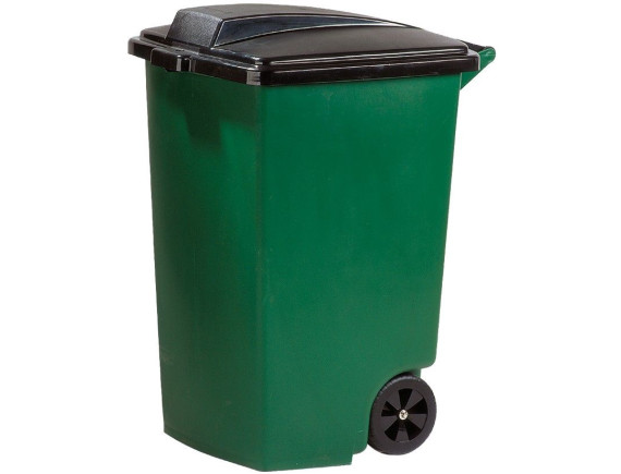 Мусорный контейнер на колёсах, 100 л, зеленый