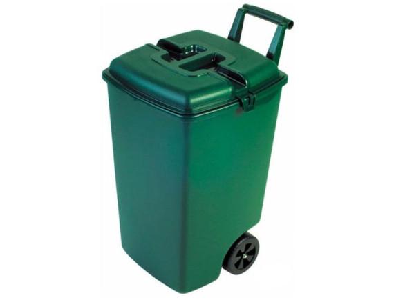 Мусорный контейнер на колёсах OUTDOOR BIN, 90 л, зеленый
