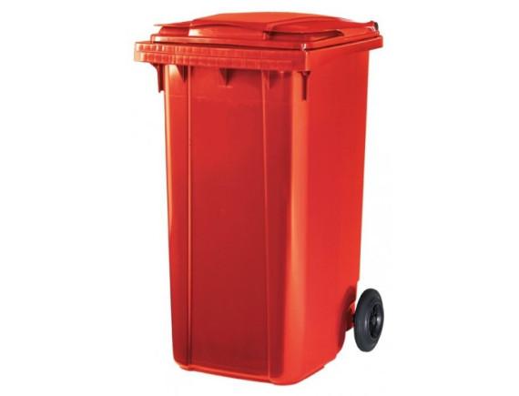 Пластиковый мусорный контейнер ESE 240 л (цвета в ассортименте)
