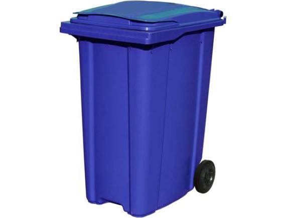 Пластиковый мусорный контейнер ESE 360 л (цвета в ассортименте)