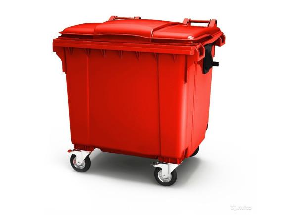 Пластиковый мусорный контейнер ESE 660 л (цвета в ассортименте)