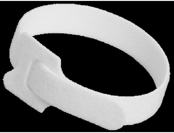 Хомут-липучка многоразовый белый для крепления фитосветильников 14х210мм