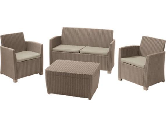 Набор мебели Corona lounge set, капучино