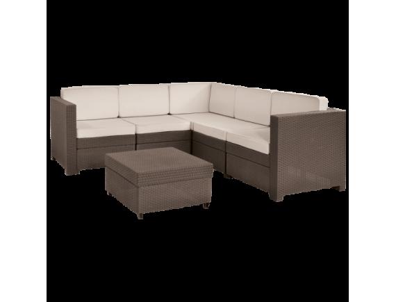 Комплект мебели Keter Provence Set, коричневый