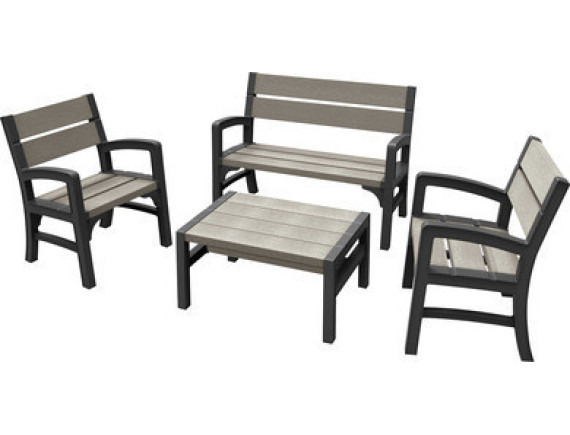 Комплект мебели Montero WLF Bench set (диван, 2 кресла, столик)
