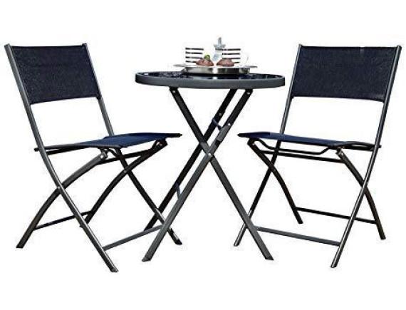 Комплект мебели (стол, два стула) Balkonset Mykonos