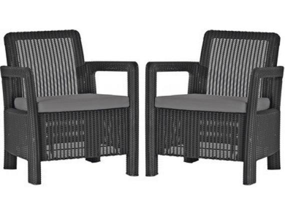Комплект мебели Tarifa 2 chairs, коричневый
