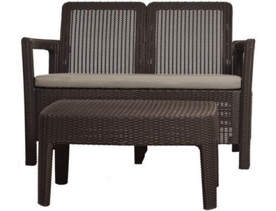 Комплект мебели Tarifa Sofa + Table (диван, столик), графит