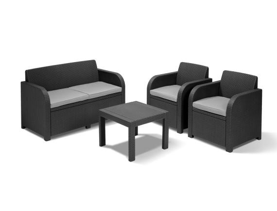 Комплект мебели Alabama set, графит