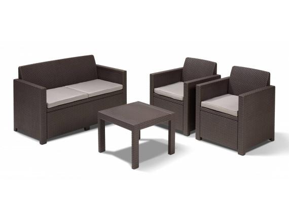 Комплект мебели Alabama set, коричневый