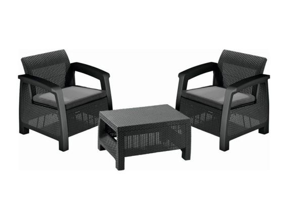 Комплект мебели Bahamas Weekend Set, графит