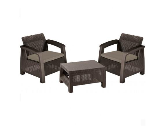 Комплект мебели Bahamas Weekend Set, коричневый