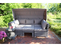 Комплект мебели из ротанга BAHIA серый