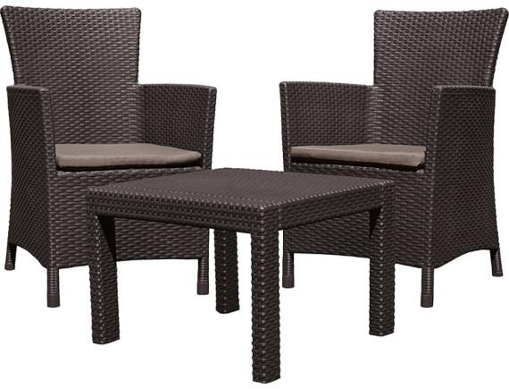 Комплект мебели Розарио (Rosario balcony set), коричневый