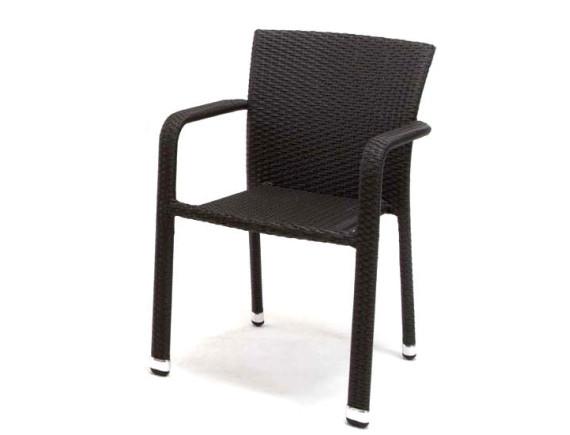 Кресло из ротанга штабелируемое CARLOS коричневое