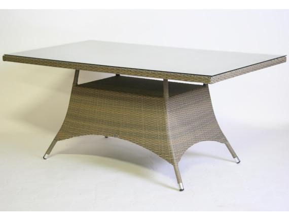 Стол из ротанга CARLOS бежево-серый
