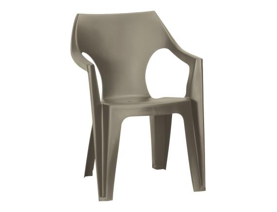 Стул пластиковый Dante Low Back, серый/капучино