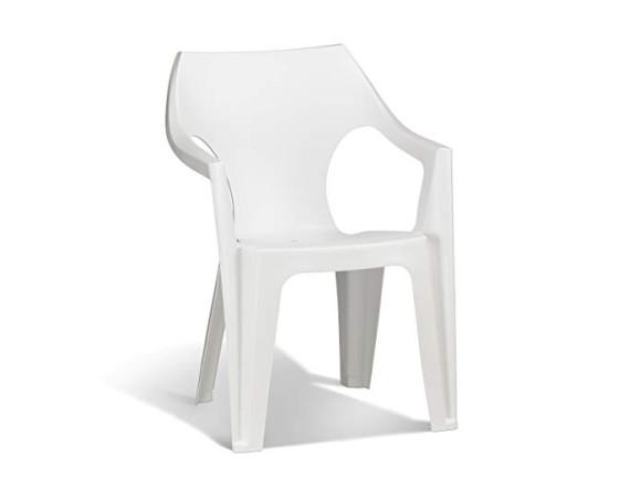 Стул пластиковый Dante Low Back, белый