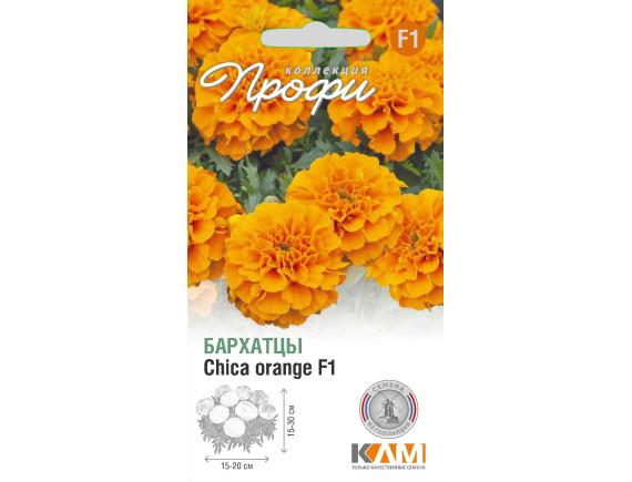Бархатцы (тагетис) Chica orange F1, 10шт, Нидерланды