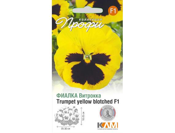 Фиалка Виттрока (анютины глазки) Trumpet yellow blotched F1, 10шт, Нидерланды