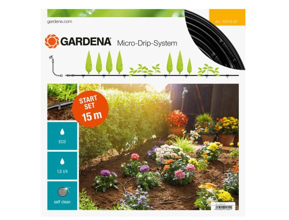 Шланг капельный Gardena для наземной прокладки 15м с фитингами