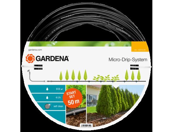 Шланг капельный Gardena для наземной прокладки 50м с фитингами