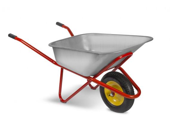 Тачка строительная одноколёсная ТехноАрт Комфорт, 110 л, 220 кг