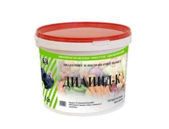 Экологически чистое удобрение Диаинд-К (диатомит + индюшачий помет), ведро 5,5 л