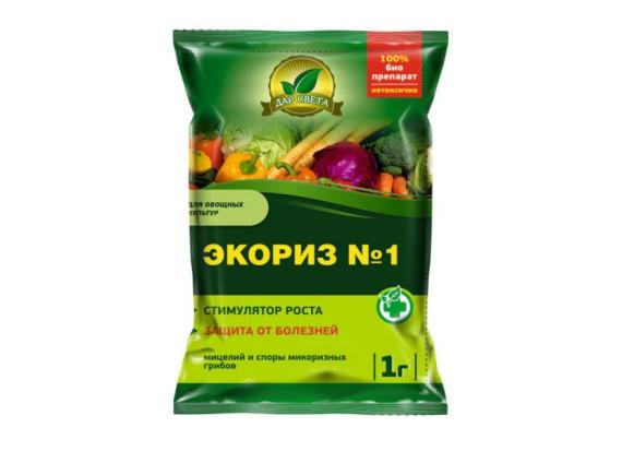 Экориз № 1 (для овощных культур) мицелий микоризных грибов