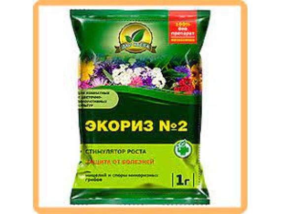 Экориз № 2 (для цветочных культур) мицелий микоризных грибов