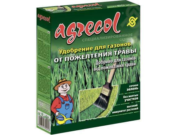 Удобрение Agrecol для газона от пожелтения травы