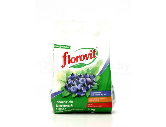 Удобрение Флоровит для голубики и брусники гранулированное, пакет 1кг