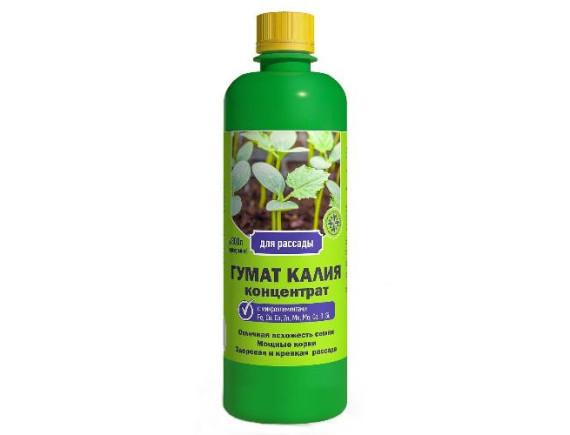 Удобрение Гумат Калия для рассады, концетрат, 0,5 л