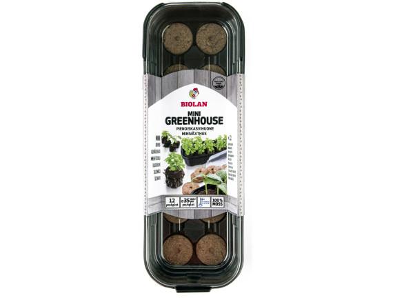 Мини-теплица Biolan с таблетками из сфагнового мха в комплекте (12 шт)