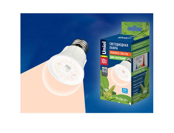 Фитолампа светодиодная для растений Uniel LED-A60-10W