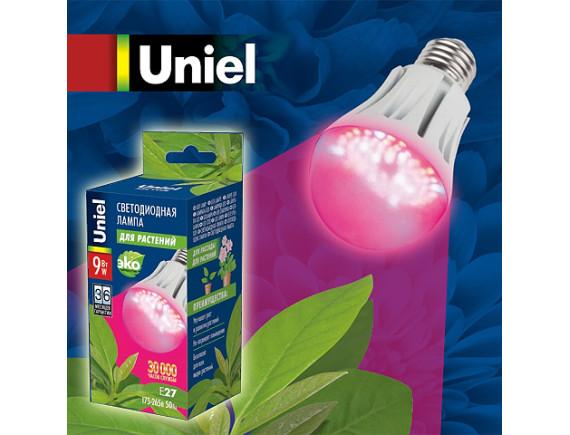 Фитолампа светодиодная для растений Uniel LED-A60-9W
