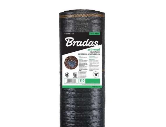 Агроткань против сорняков, черная, плотность 110 г/м² , размер 1,2х100м BRADAS, РП