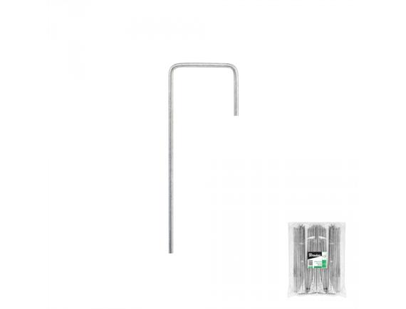 Шпилька металлическая оцинкованная 15см, ширина 3см для крепления агротканей, спанбонда