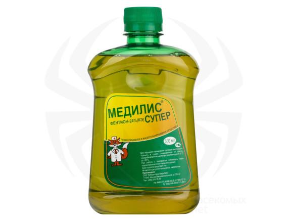 Репеллент, инсектицидное средство от вшей, клещей и других вредителей  Медилис Супер КЭ, 500мл