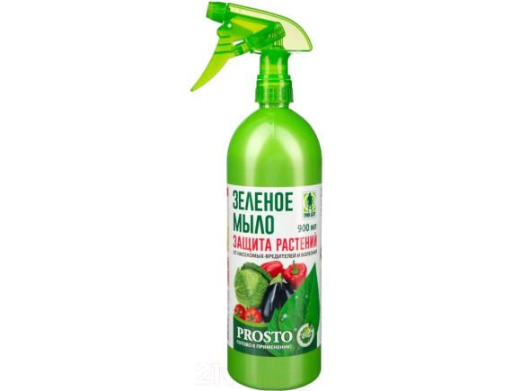 Зеленое мыло-спрей для защиты от комплекса вредителей Грин Бэлт Prosto с триггером, 900мл