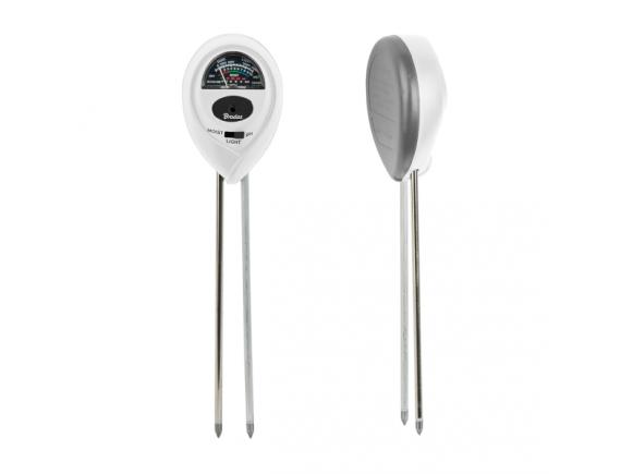 Мультитестер - измеритель кислотности, влажности почвы и освещенности WHITE LINE 3 в 1, WL-M12