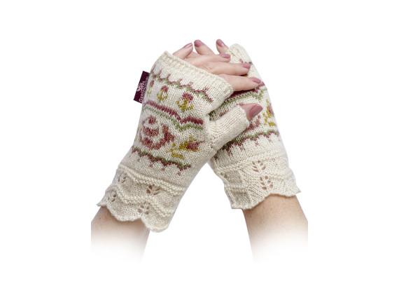 Перчатки-митенки вязаные GardenGirl Classic Collection