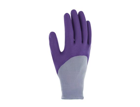 Перчатки садовые с нитрилом Plantation Blackfox (фиолетовые)