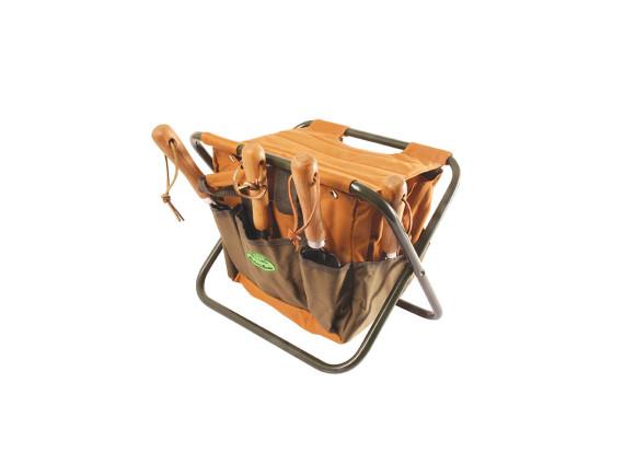 Садовый стул с сумкой для инструментов Esschert Design (зеленый)