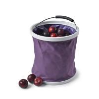 Ведро резиновое складное Burgon & Ball (фиолетовое)