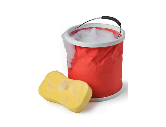 Ведро резиновое складное Burgon & Ball (красное)