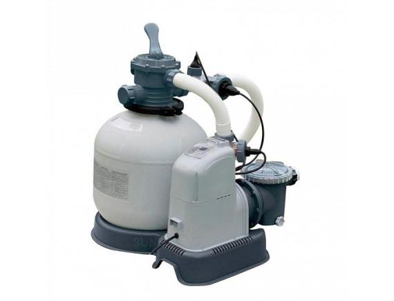 Песочный Фильтр-насос Intex с хлоргенератором, 10000 л/ч, хлорирование 11 гр/ч
