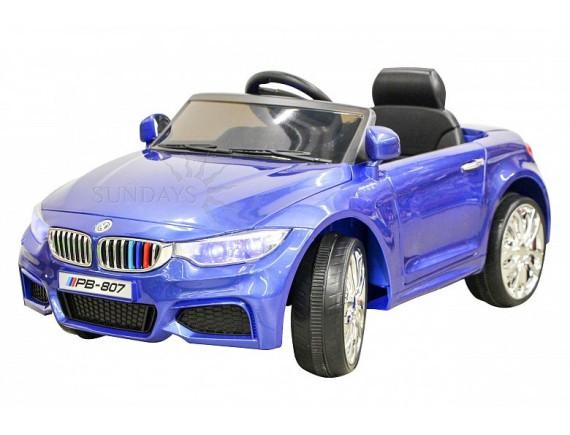 Детский электромобиль Sundays BMW M4 BJ401, цвет синий