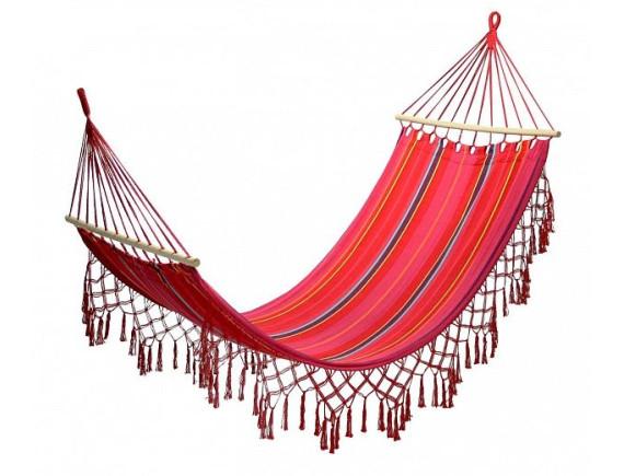 Гамак ROMANCE 200x100cm; материал: хлопок; цвет: красная полоска 12978