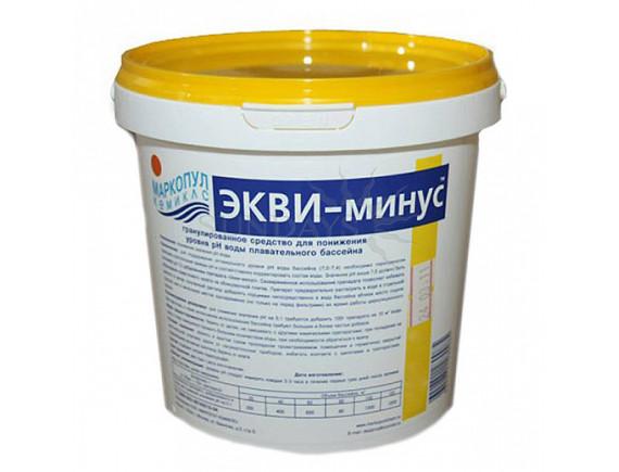 """ЭКВИ-минус"""". (ведро) 1 кг. Средство для регулировки pH """" Маркопул"""